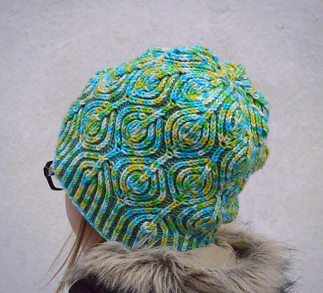 Lollipop Brioche Hat pattern by Raina K | Gorros, Sweter y Patrón de ...