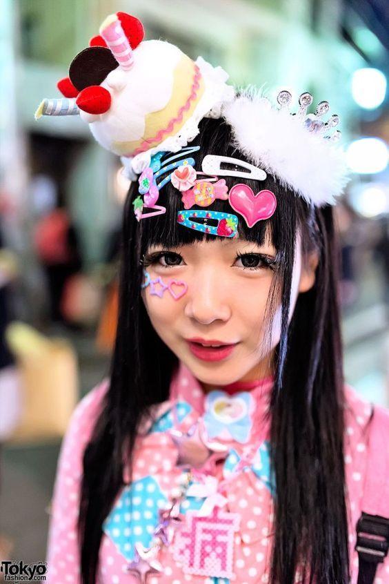 1 Cute Japanese Decora Hair Clips Harujuku Party Pinterest Harajuku Fashion Street Japan Fashion Tokyo Fashion
