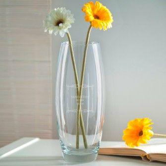 Engraved Bullet Vase - Mother of the Groom Classic Frame