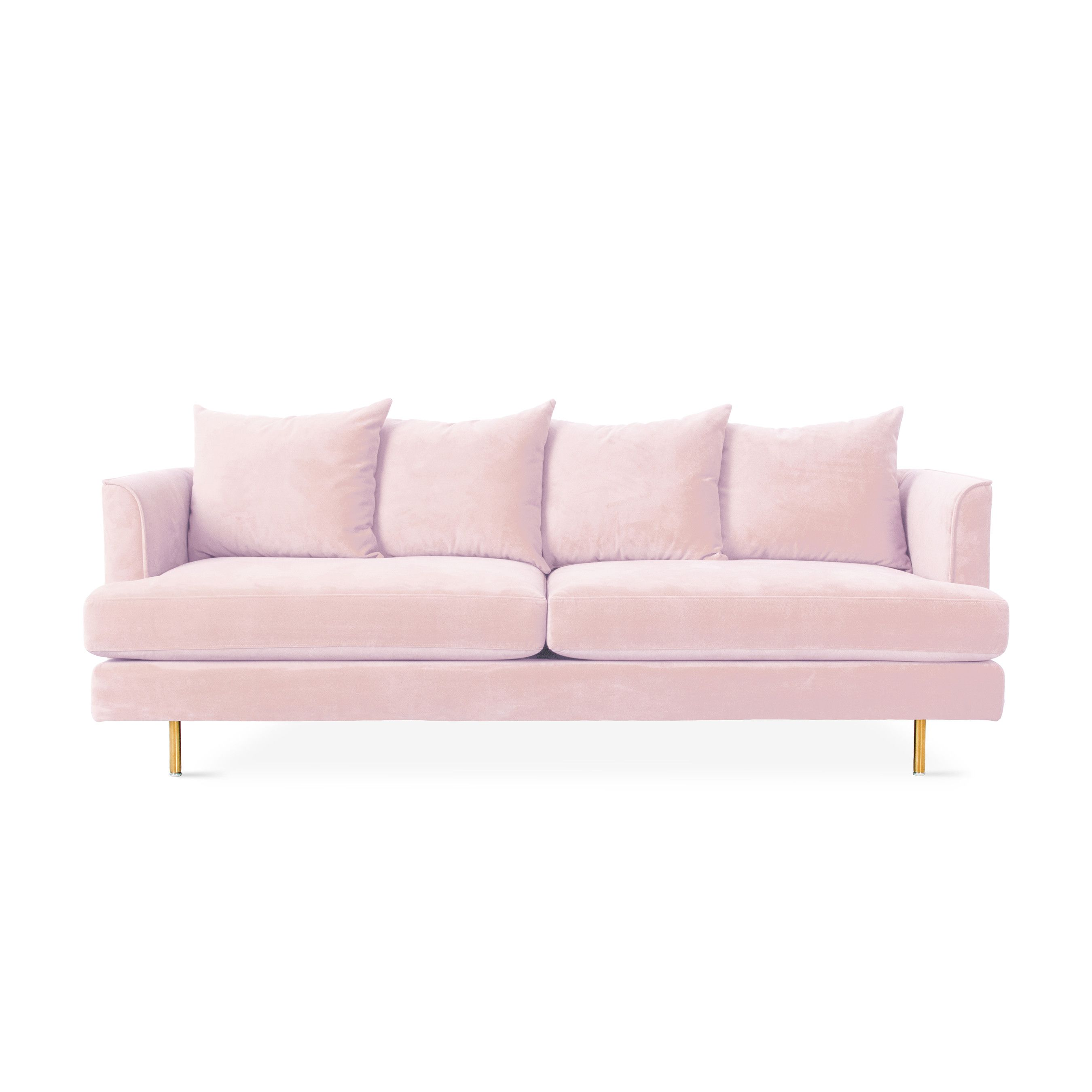 How to Rock Not e but Two Pink Sofas in Your Home