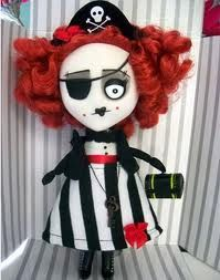 Pocket Full Of Posiez original plush, plastic material combination collectible doll. A few of Pansy the Pirate are still available for $25