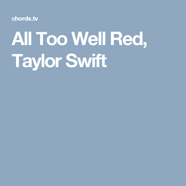 All Too Well Red, Taylor Swift | Guitar | Pinterest | Taylor swift ...