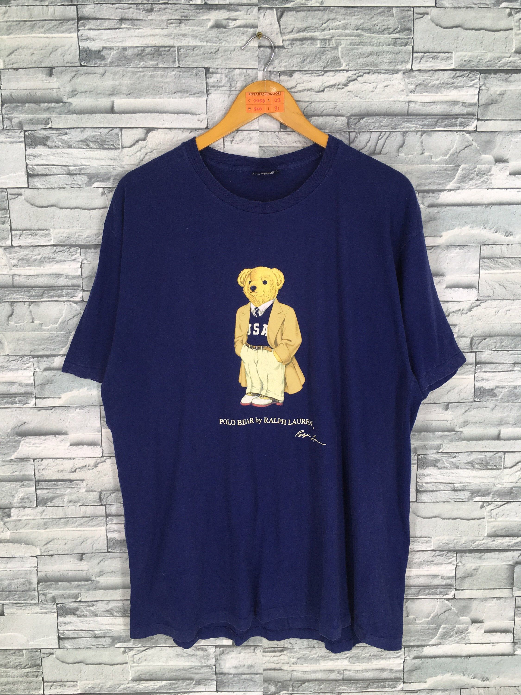 Vintage 1990 S Polo Bear T Shirt Large Mens Polo Ralph Bear T Shirt Stylish Jackets Weird Shirts