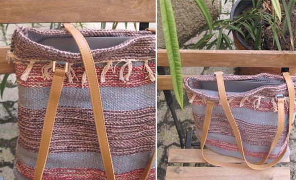 Anleitung Tasche selber nähen aus gewebtem Teppich | Kreativ ...