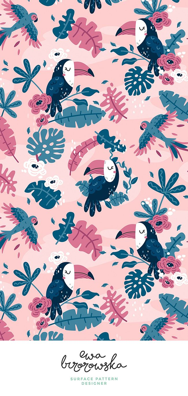 Tropical Toucans #tropicalpattern