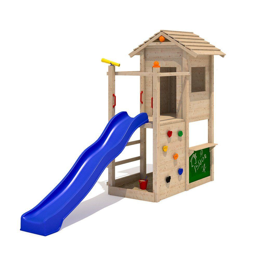 Isidor Picodo Spielturm Kletterturm Rutsche 2 Schaukeln Kletterwand Baumhaus Ohne Schaukelanbau Amazon De Garten Spielturm Kinder Hof Baumhaus