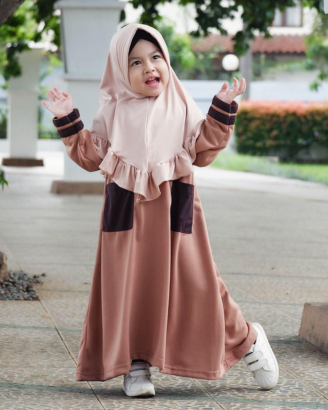 Model Gamis Anak Muslimah  Gaun bayi perempuan, Pakaian anak
