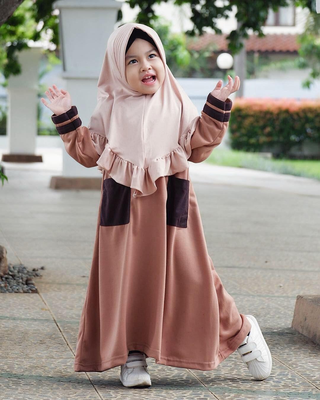 Model Gamis Anak Muslimah  Gaun bayi perempuan, Pakaian bayi