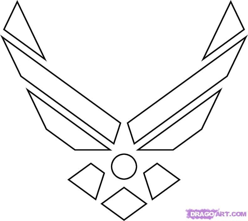 how to draw the air force symbol step 5 - Air Force Coloring Pages Printable
