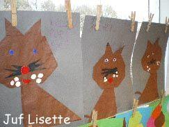 oranje papier - zwarte strepen erop tekenen - tijger!