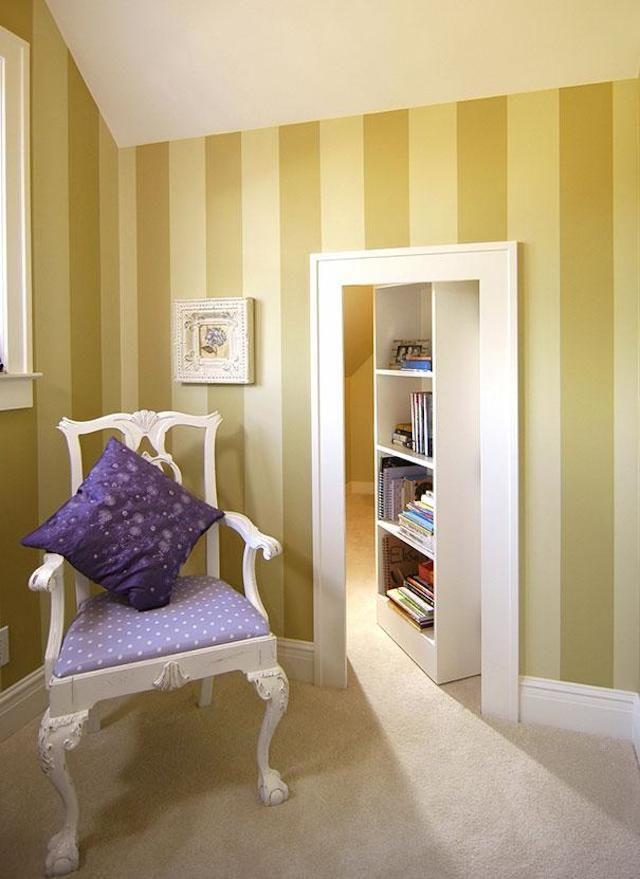 Secret Rooms in Hidden Doors Chambres secrètes