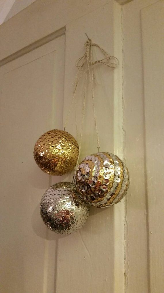 Winter / Christmas Silver and Gold Sequins Balls / by BeeYas