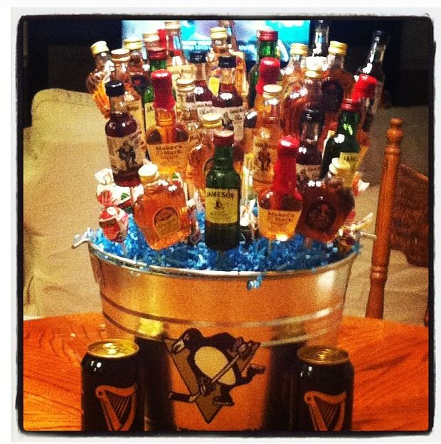 Turning 30 Birthday Basket: Mike's 30th Birthday Booze Bouquet...I Forgot To Post This