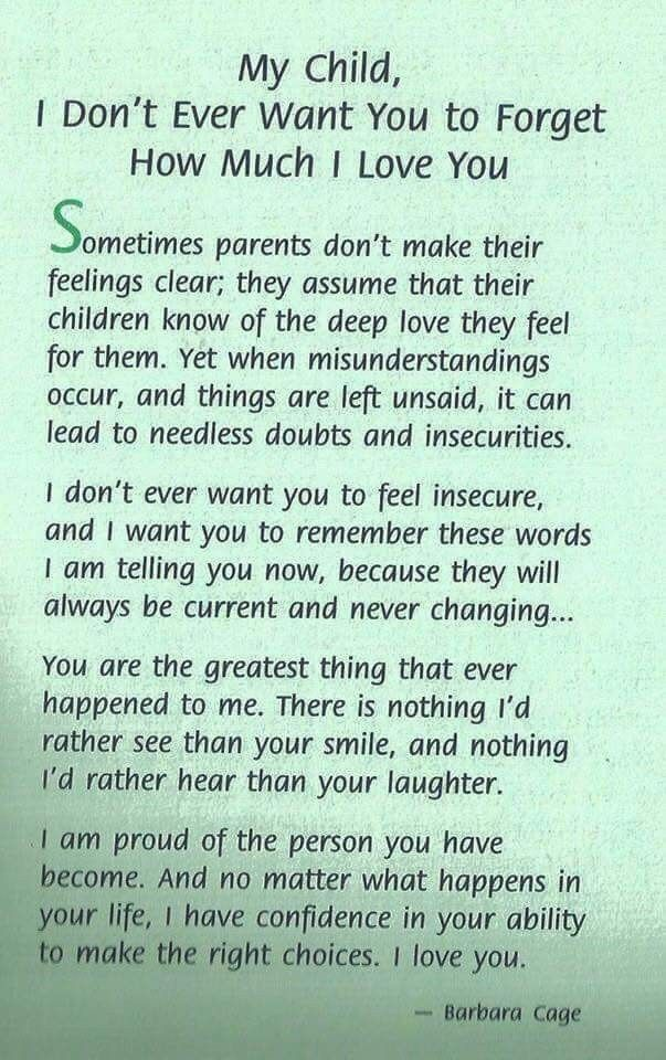 My Family Not Just My Child Inspirational Son Quotes Daughter