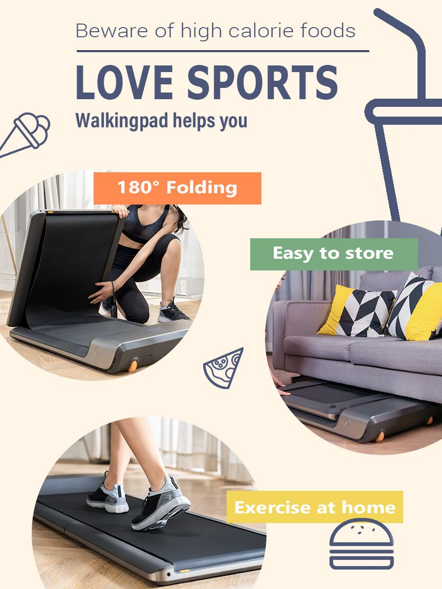 A1 foldable under desk walking treadmill At home