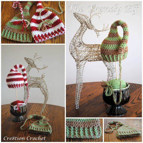 Christmas Hats for Newborn to Adult - Free Crochet Patterns | Gorros ...