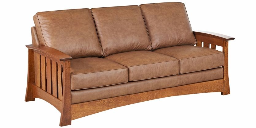 Remarkable Stockton Mission Craftsman Style Leather Seating Collection Caraccident5 Cool Chair Designs And Ideas Caraccident5Info
