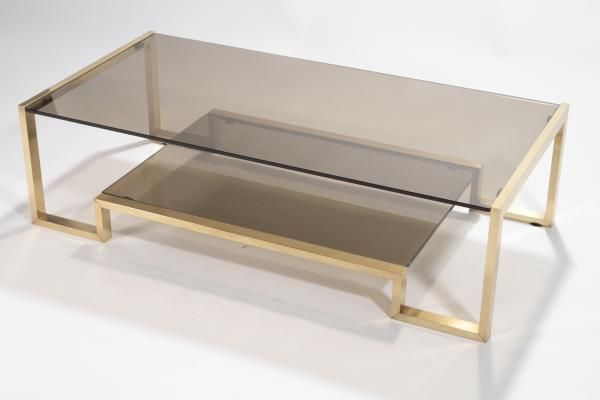 Brass Coffee Table By Romeo Rega 1970s 1 With Images Brass Coffee Table