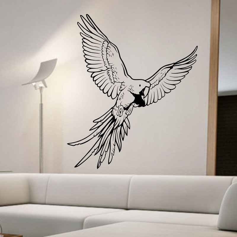 Creative Home Decoration Parrot Wall Stickers Living Room Vinyl - Wall vinyl stickerswall vinyl designs home design ideas