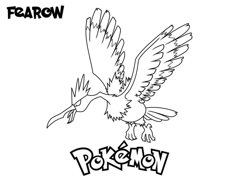 Pokemon Fearow Coloring Drawing Books Pokemon Coloring Pages Coloring Pages Drawing Books For Kids