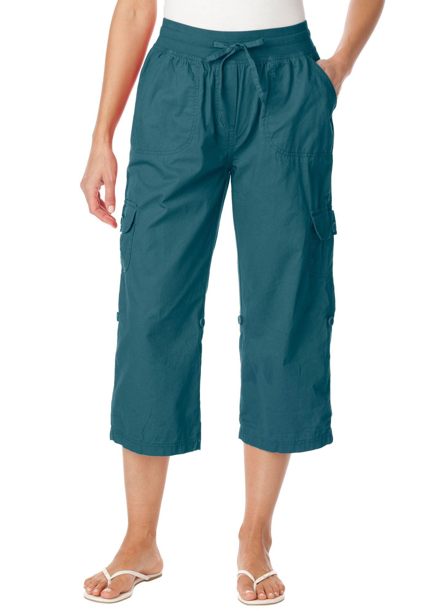 Plus Size Pants, capri style in convertible lengths