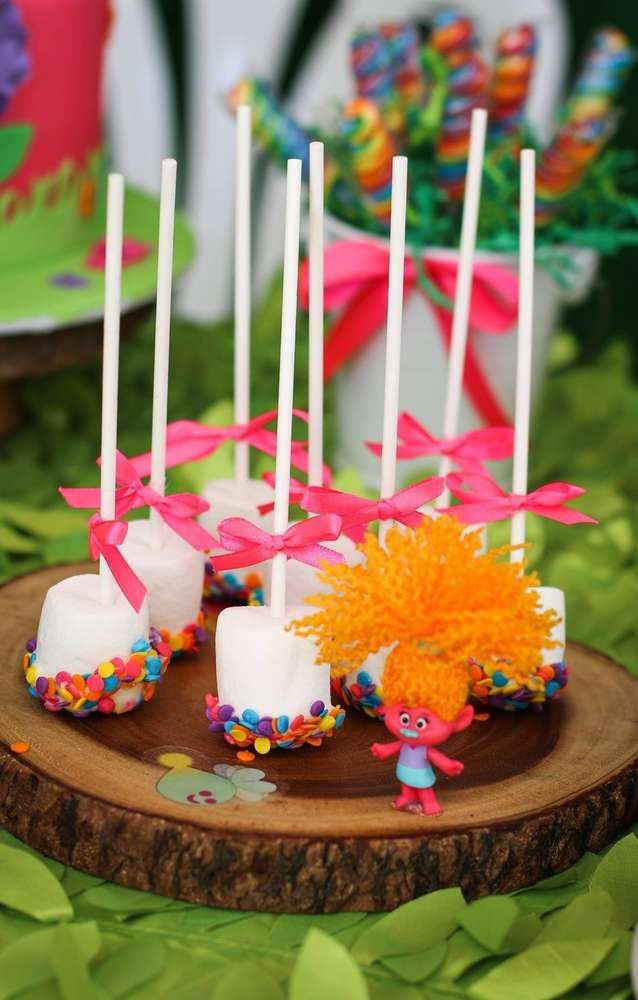 Trolls Birthday Cake Candles Party Decoration