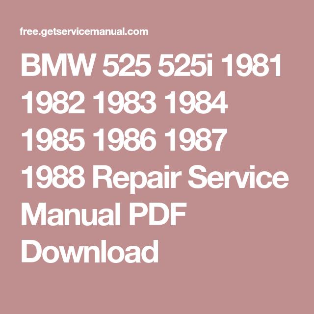 Bmw 525 525i 1981