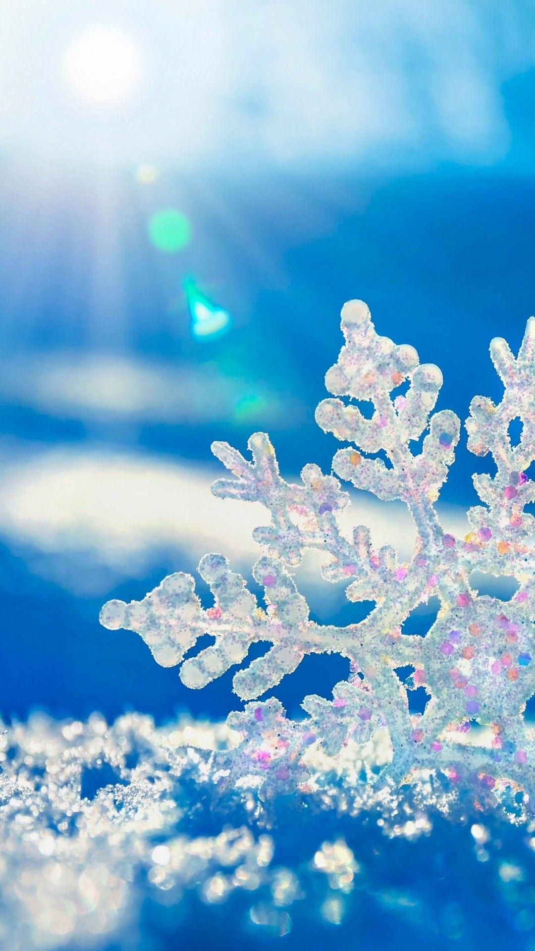 スノークリスタル 冬の壁紙 風景の壁紙 壁紙