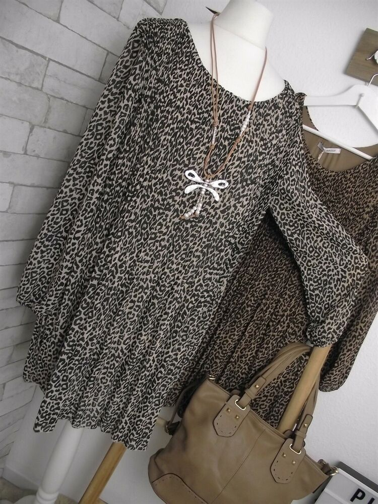 NEU Kleid SUPERBUGS Plissee-Falten ITALY schwarz-beige ...