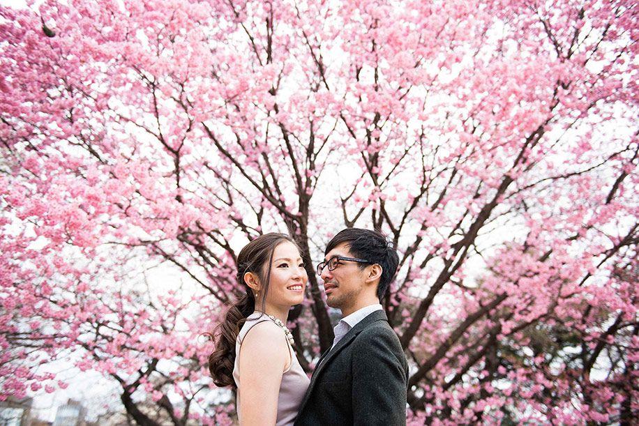Pre Wedding Shoot At Cherry Blossom Festival In Shillong Cherry Blossom Wedding Engagement Photos Fall Pre Wedding