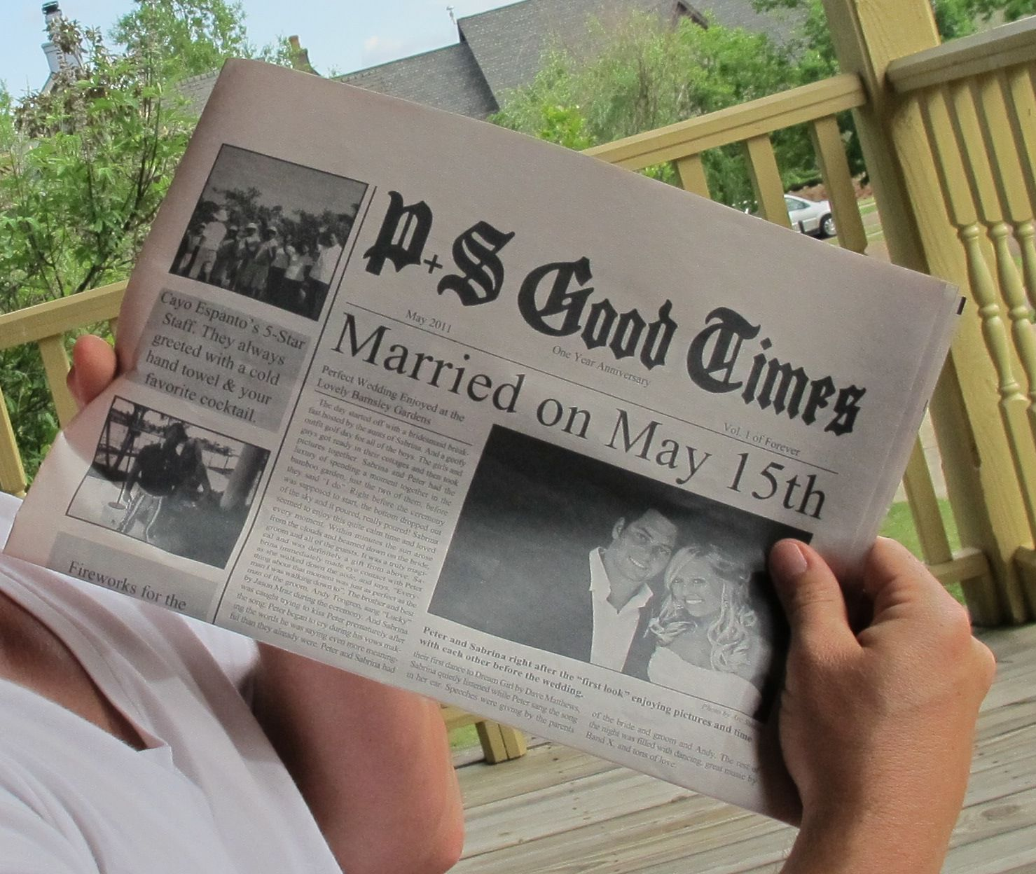 Traditional 1st Wedding Anniversary Gifts: Newspaper Of Your First Year