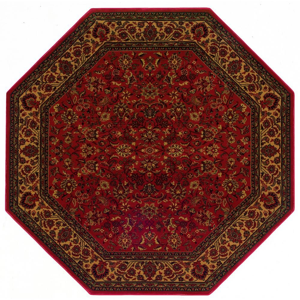 Everest Isfahan Crimson Red 3 Ft 11 In X 3 Ft 11 Octagon
