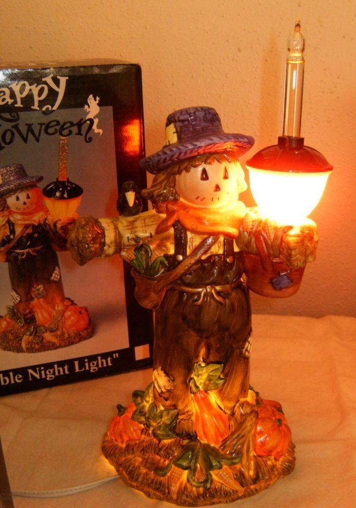 mib cracker barrel halloween bubble lamp scarecrow fall halloween display