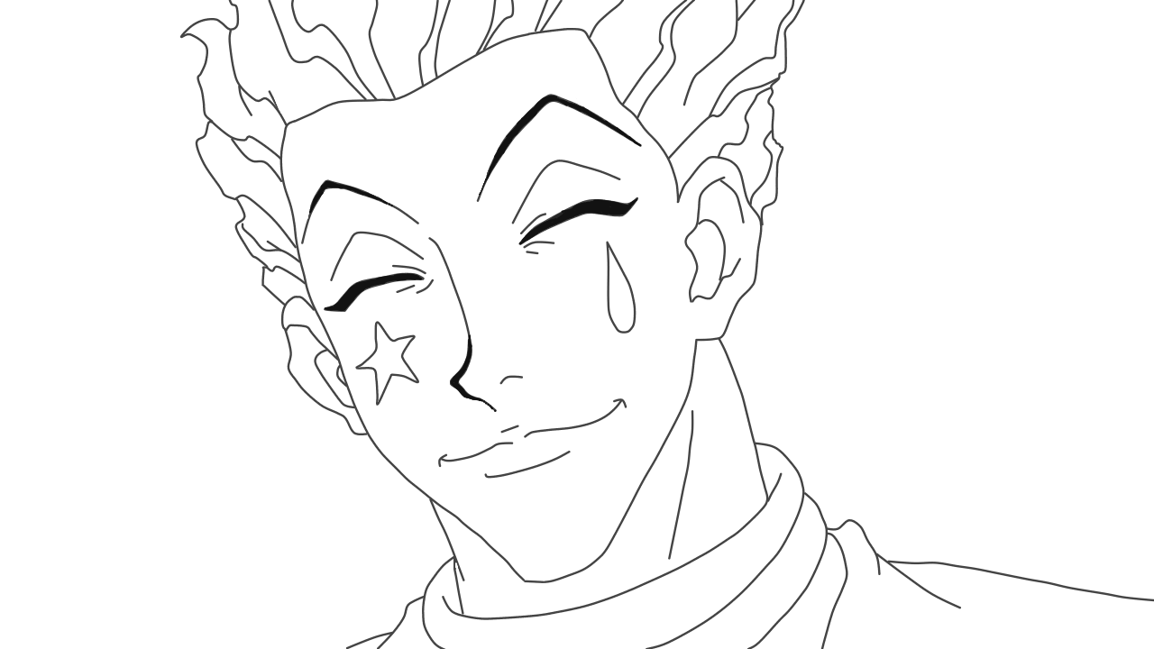 Hisoka Lineart In 2020 Anime Lineart Anime Tattoos Anime Sketch