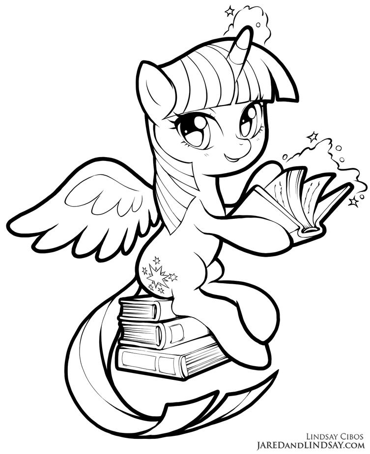 Twilight Sparkle By Lcibos My Little Pony Coloring My Little Pony Movie Cute Coloring Pages
