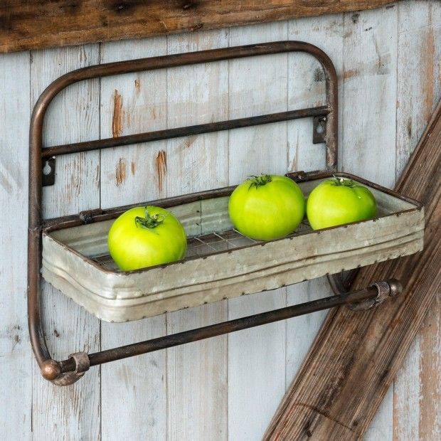 Kitchen Wall Shelf With Towel Rack   Kitchen wall shelves, Towels ...