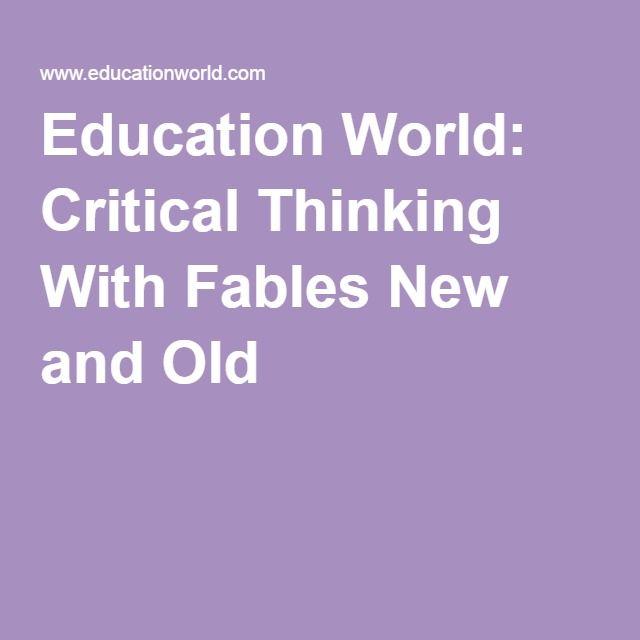 critical thinking education world