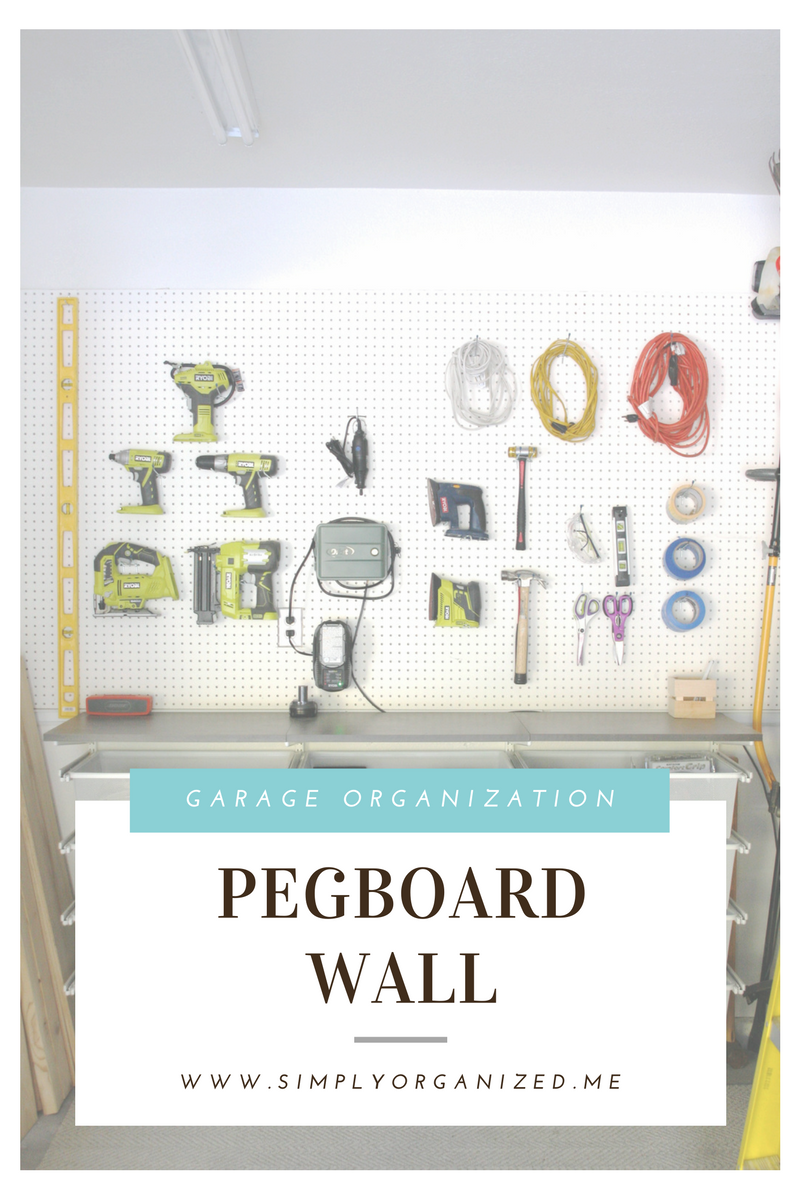 how i organized my pegboard wall wall organization peg on cheap diy garage organization ideas to inspire you tips for clearing id=32961