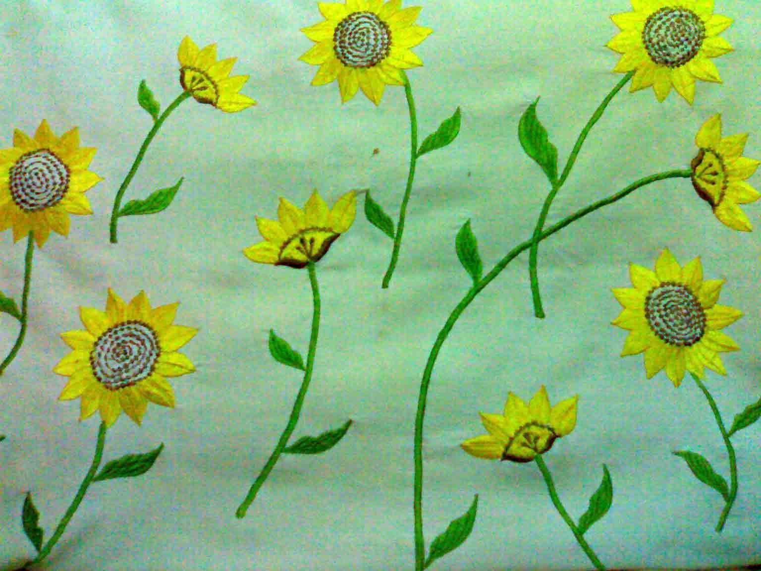 Gambar Sulaman Bunga Matahari Gambar Bunga Untuk Taplak Meja Pickini Paket Kristik Bunga Pot 11ct Lain Lain Mainan Hobi Koleksi Bunga Gambar Bunga Gambar