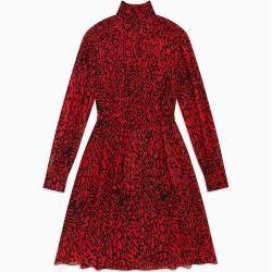 Photo of Calvin Klein Georgette-Kleid mit Leopardenprint 38 Calvin KleinCalvin Klein