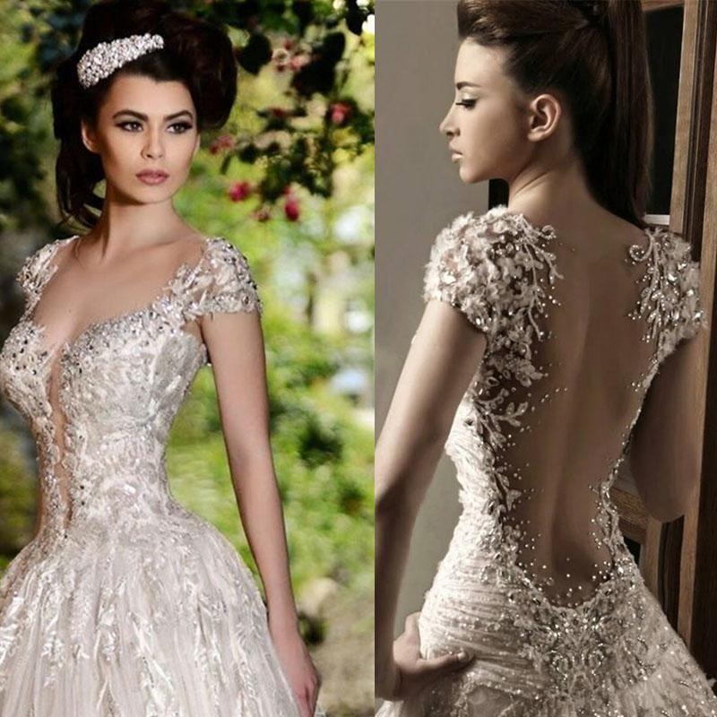 Discount Rami Salamoun Glamorous Rhinestones Lace Applique Beads