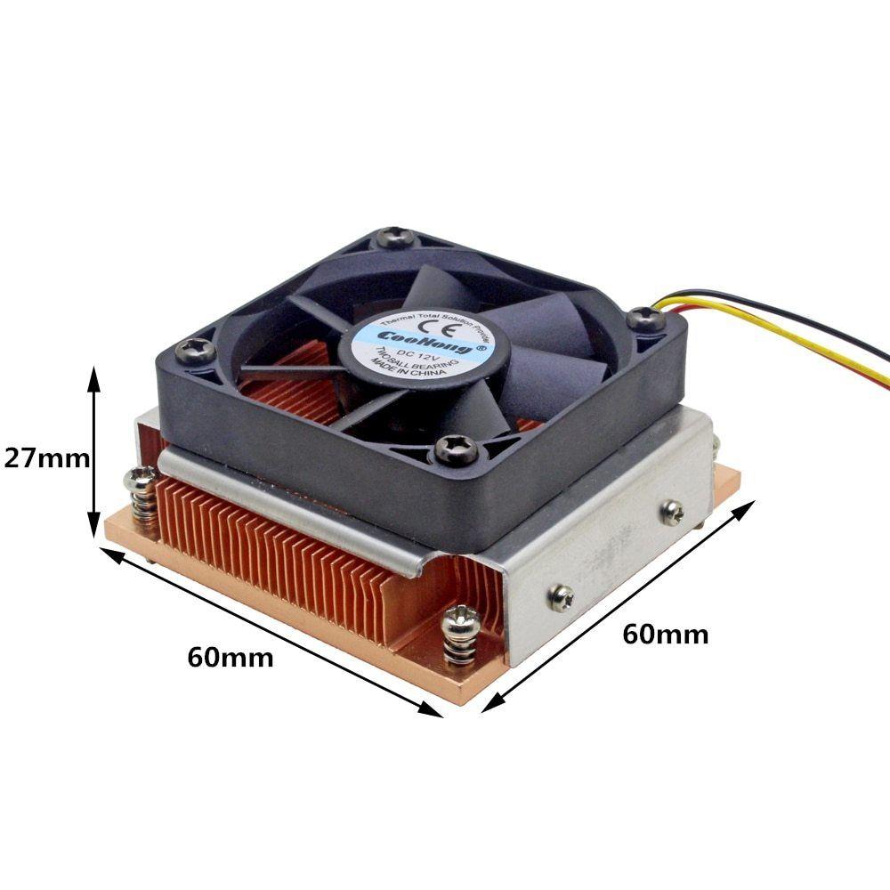 1u Server Cpu Cooler Industrial Personal Computer Copper Heatsink