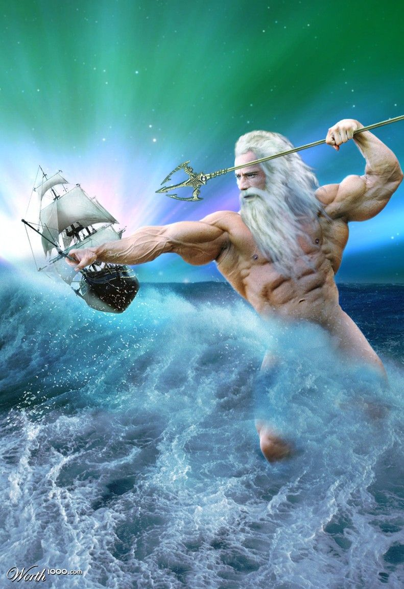 Gods Ocean Sea: The Sea God  | Mythology in 2019 | Greek