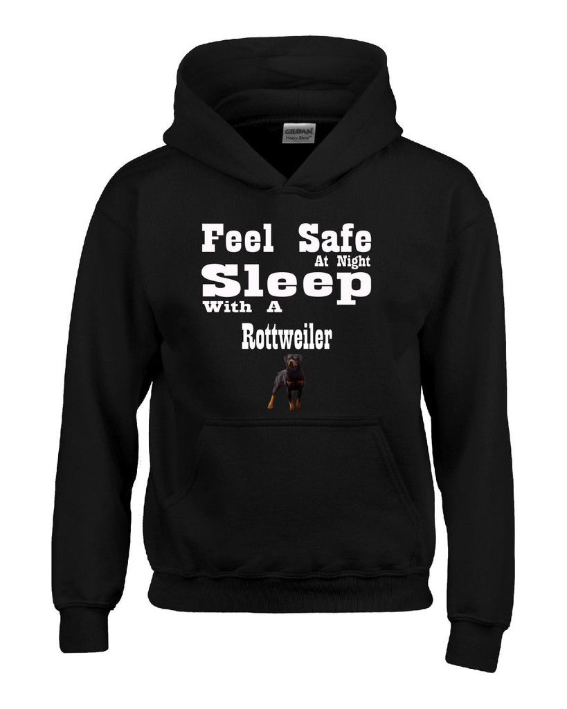 Feel safe at night sleep with a rottweiler hoodie