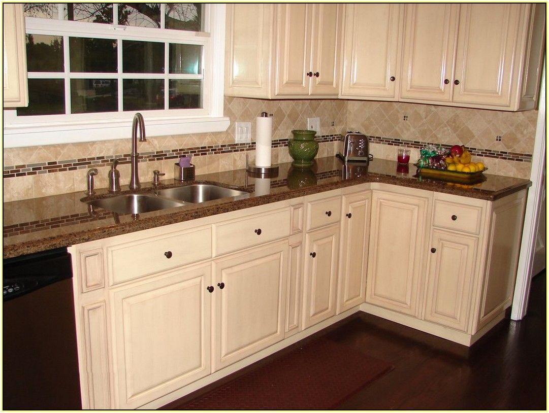 Kitchen With Brown Cabinets Tropic Brown Granite Countertops With White Cabinets