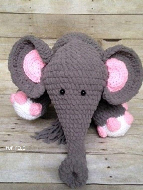 Crochet Elephant Pattern/Crochet Pattern/Blanket Yarn/Amigurumi ...