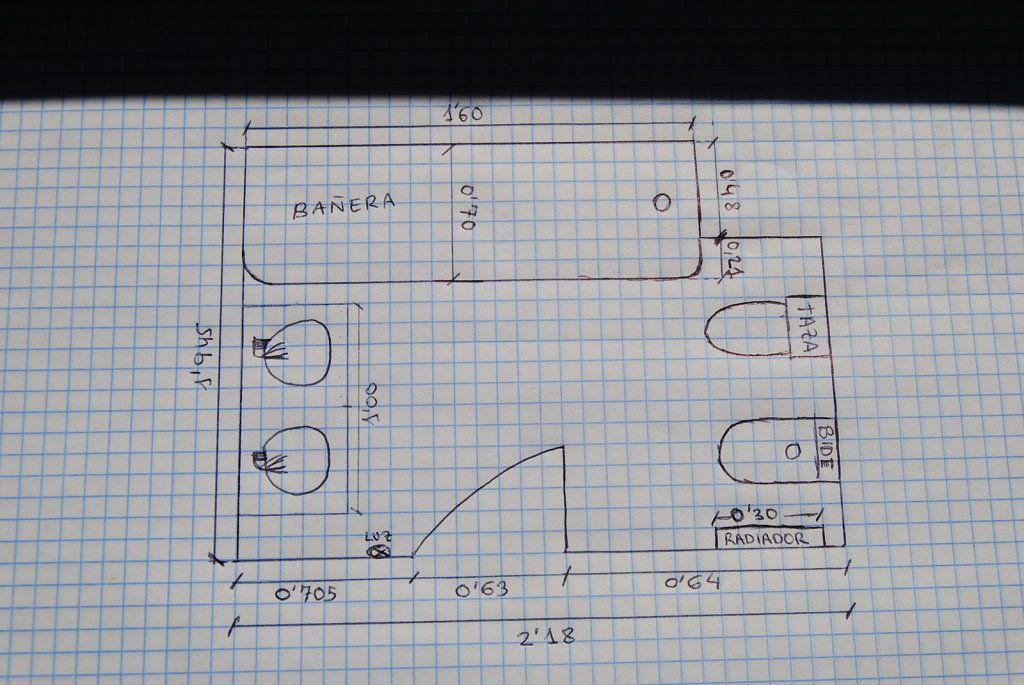 planos de cuartos de baño con medidas - Buscar con Google ...