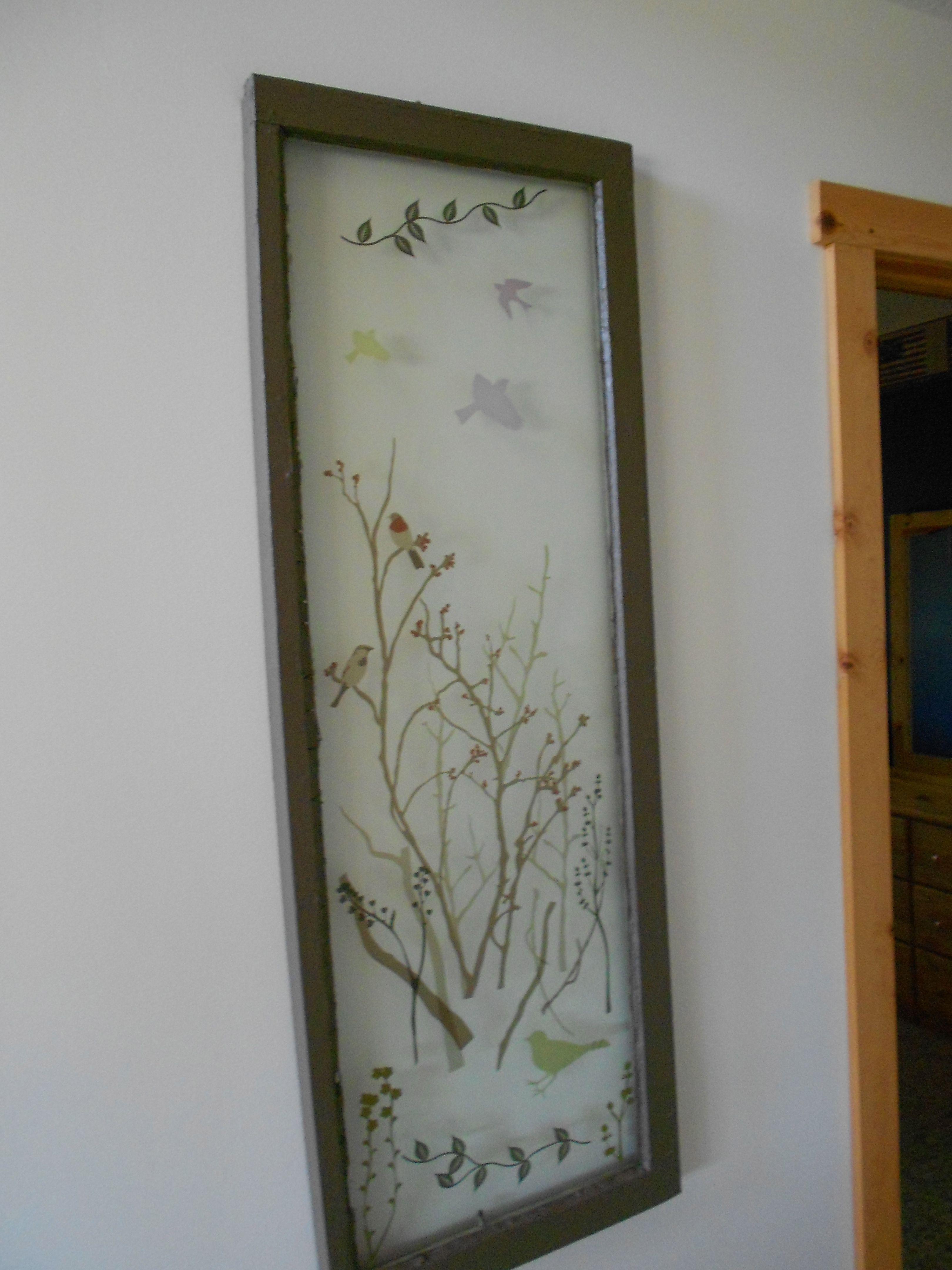 Old farm house window used wall stickers on the glass to create old farm house window used wall stickers on the glass to create inexpensive art work jeuxipadfo Gallery