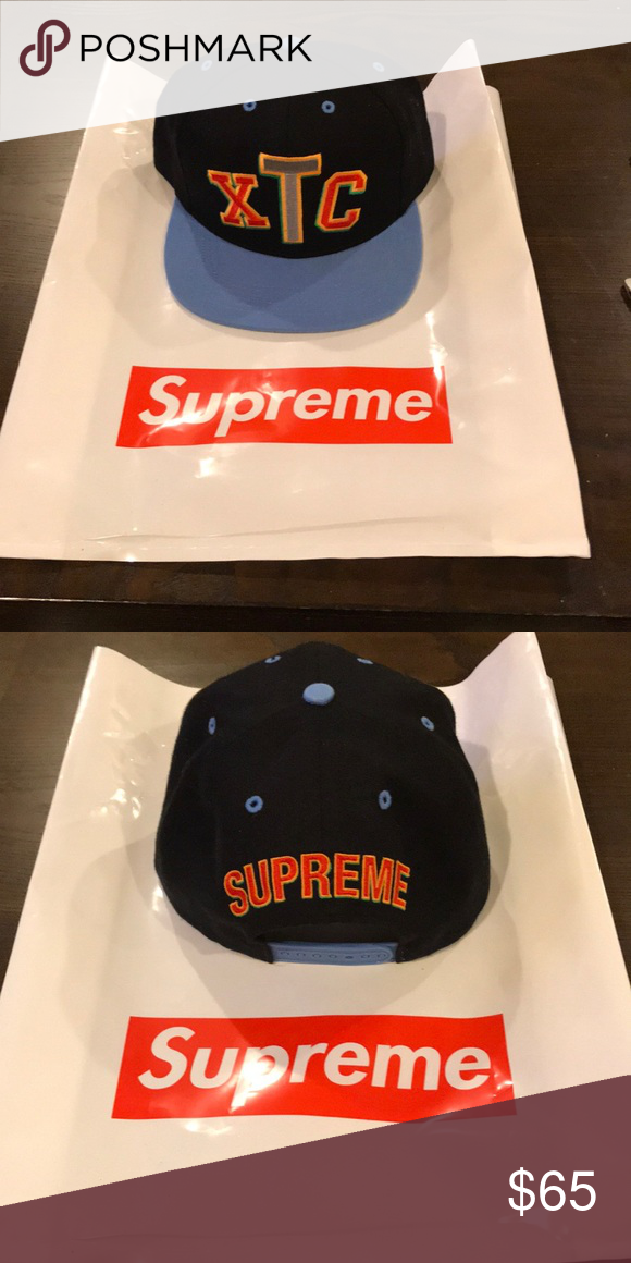 358e13551d6 Supreme XTC snapback hat Brand new supreme XTC hat. 2018 drop. One size  fits all Supreme Accessories Hats