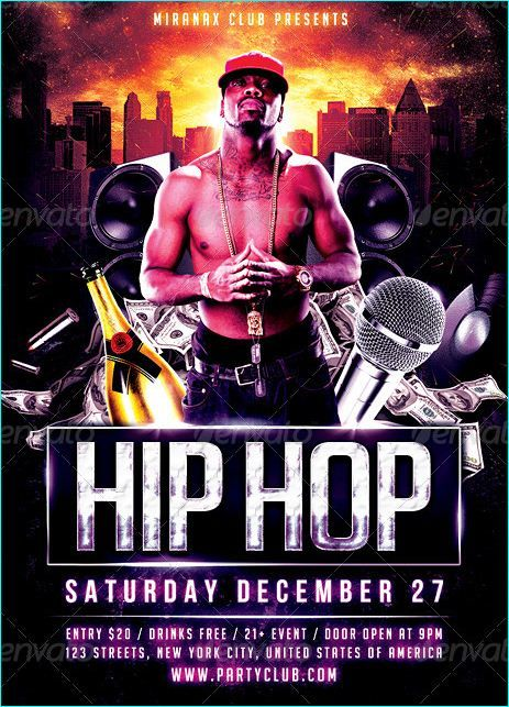 underground hip hop rap flyer template party flyer templates for